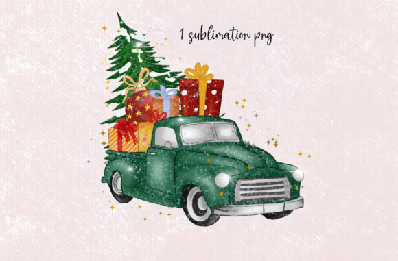 Green Gnomes Christmas Design Clipart Graphic Preview