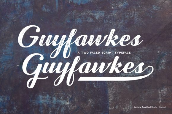 Print on Demand: Guyfawkes Script & Handwritten Font By Luxima Creative