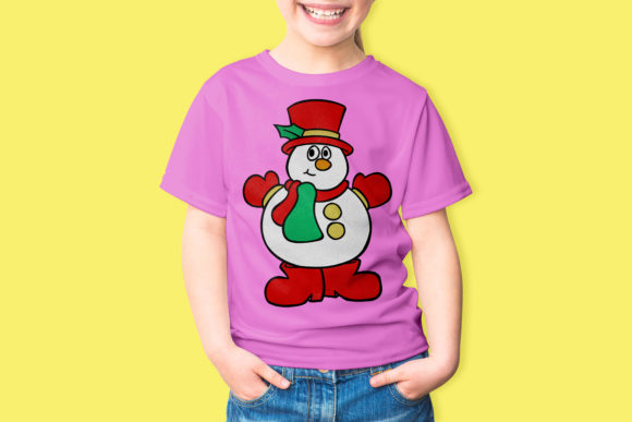 Happy Snowman Embroidery Download