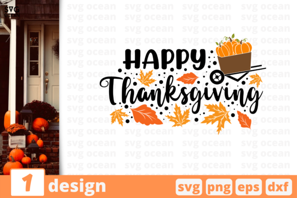 Happy Thanksgiving Graphic Crafts By SvgOcean