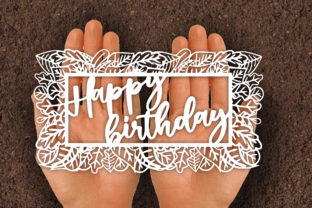 Print on Demand: Happy Birthday Card Papercut SVG Graphic Print Templates By johanruartist
