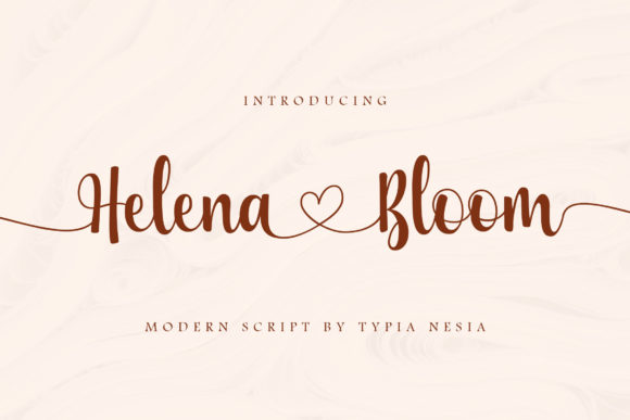 Print on Demand: Helena Bloom Script & Handwritten Font By Typia Nesia