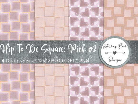 Print on Demand: Hip 2 Be Pink Squares Graphic Patterns By Whiskey Black Designs