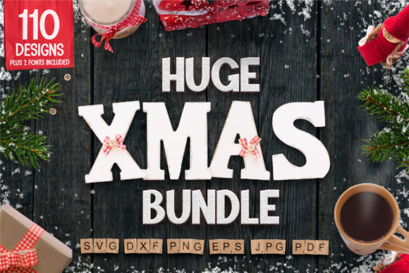 Huge Christmas Bundle SVG Grafik Plotterdateien von SeventhHeaven Studios
