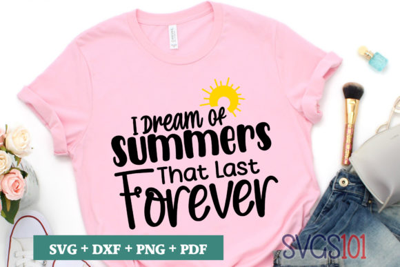 I Dream of Summers That Last Forever SVG Graphic Illustrations By svgs101