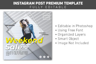 Instagram Post Weekend Sale Fashion Graphic Graphic Templates By ant project template
