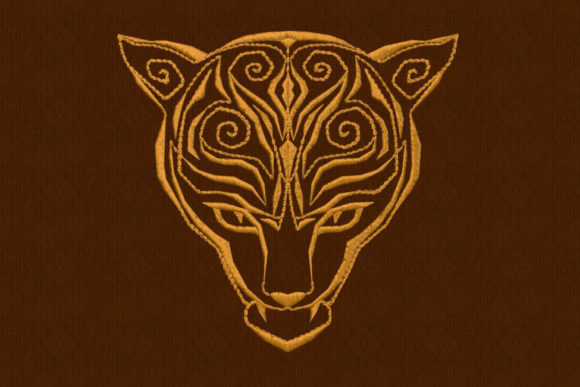 Jaguar Head Cats Embroidery Design By DNE embroidery