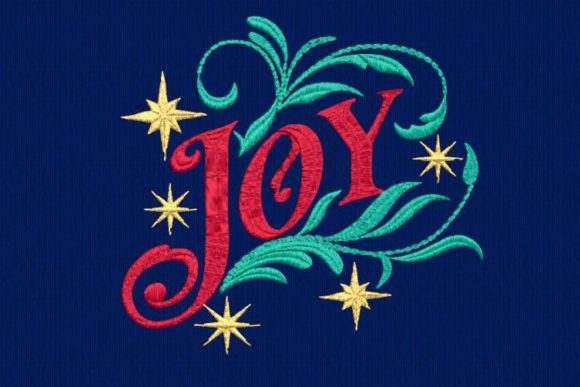 Joy - Motif ITH Christmas Embroidery Design By DNE embroidery