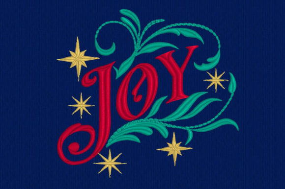 Joy - Motif ITH Embroidery Download