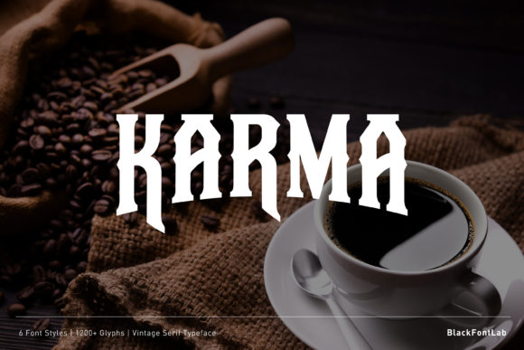 Print on Demand: Karma Blackletter Font By black.fontlab