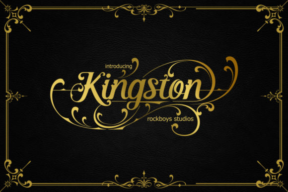 Print on Demand: Kingston Script & Handwritten Font By RockboyStudio