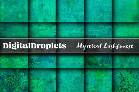 Lush Forest Graphic Textures By digitaldroplets