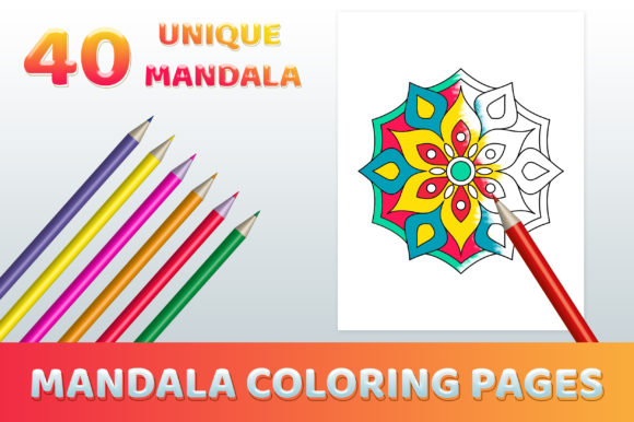 Mandala Coloring Pages for Kids Graphic Coloring Pages & Books Kids By medelwardi
