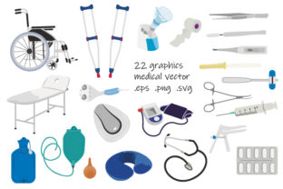Print on Demand: Medical Items and Equipment Graphic Objects By EmbArt