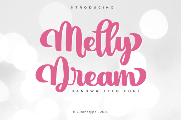 Print on Demand: Melly Dream Script & Handwritten Font By Yumna_Type