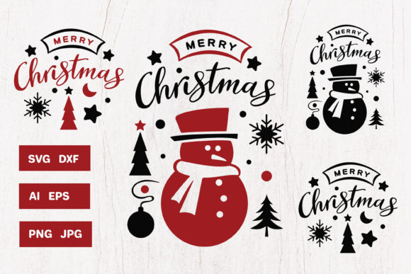 Print on Demand: Merry Christmas Graphic Illustrations By pufanya