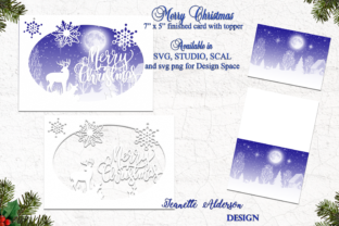 Merry Christmas Oval Topper Graphic 3D SVG By jeanette.alderson
