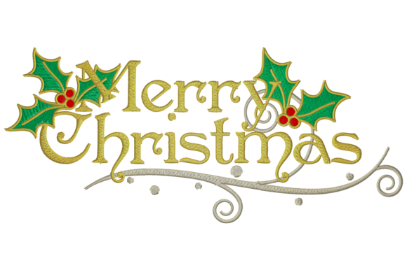 Merry Christmas Wish Embroidery