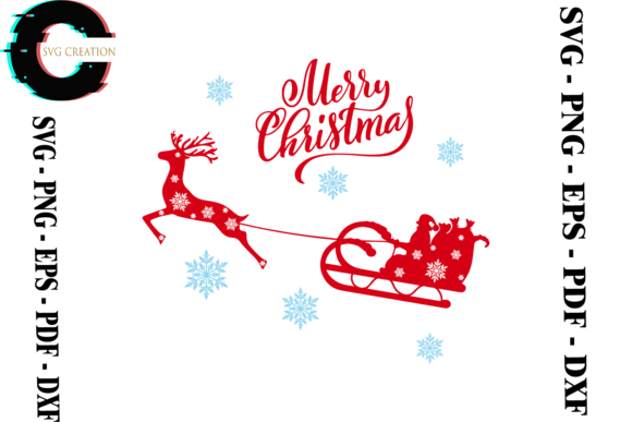 Print on Demand: Merry Christmas Vector Clipart Svg Graphic Print Templates By SVG Creation