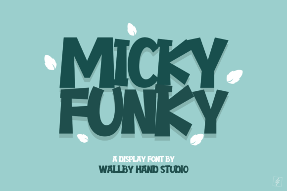 Print on Demand: Micky Funky Display Font By wallby.hand