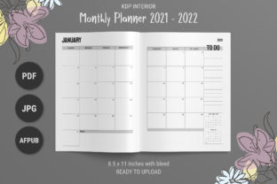 Print on Demand: Monthly Planner 2021-2022 - Afpub Source Graphic KDP Interiors By The Low Content Bookshelf
