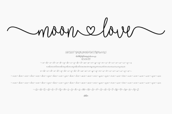 Print on Demand: Moonlove Script & Handwritten Font By harisprawoto