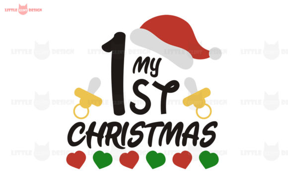 My 1st Christmas, Baby Santa Graphic Crafts By Glint Design