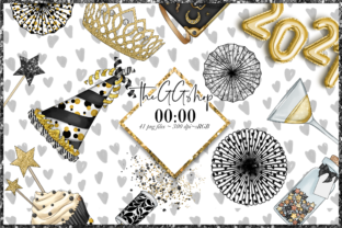 Print on Demand: New Year's Party Clipart Graphic Illustrations By TheGGShop