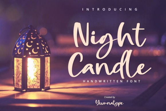 Print on Demand: Night Candle Script & Handwritten Font By Yumna_Type
