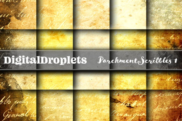 Parchment Scribbles 1 Graphic Backgrounds By digitaldroplets