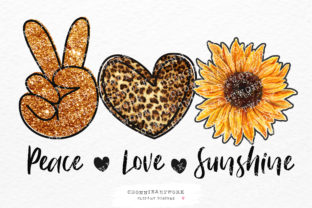 Print on Demand: Peace Love Sunshine Sublimation Graphic Crafts By Chonnieartwork