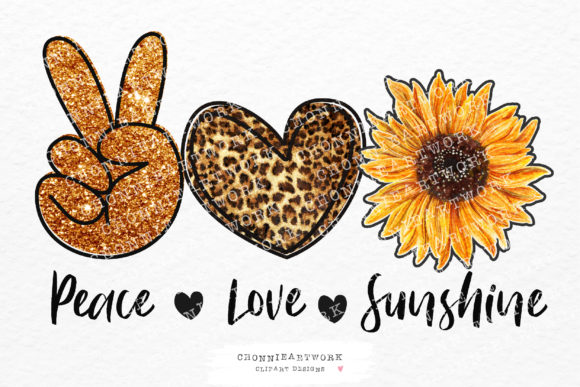 Peace Love Sunshine Sublimation Graphic Crafts By Chonnieartwork