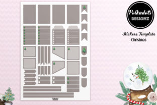 Planner Stickers Template - Christmas Graphic Print Templates By Polkadots Designz
