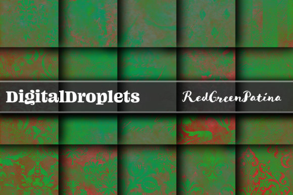 Red Green Patina Graphic Textures By digitaldroplets