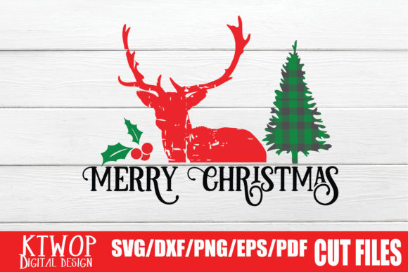 Print on Demand: Reindeer Merry Christmas SVG Graphic Crafts By KtwoP