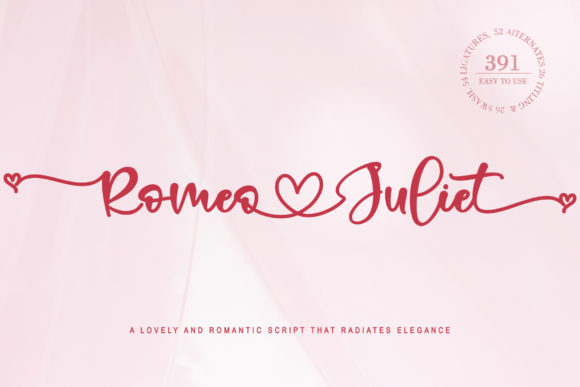 Print on Demand: Romeo Juliet Script & Handwritten Font By thomasaradea