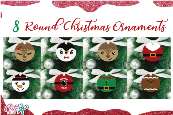 Round Christmas Ornament Graphic