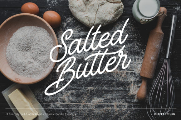 Print on Demand: Salted Butter Script & Handwritten Font By black.fontlab