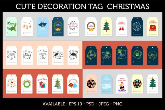 Set of Tag Christmas Design Graphic Graphic Templates By griyolabs