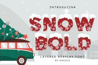 Print on Demand: Snow Bold Display Font By HansCo 1