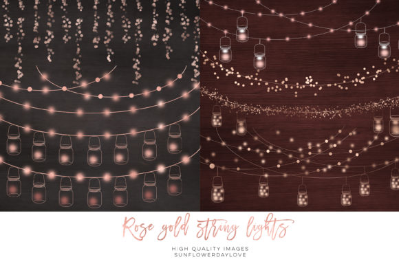Print on Demand: String Lights Overlay Fairy Clipart Graphic Illustrations By SunflowerLove