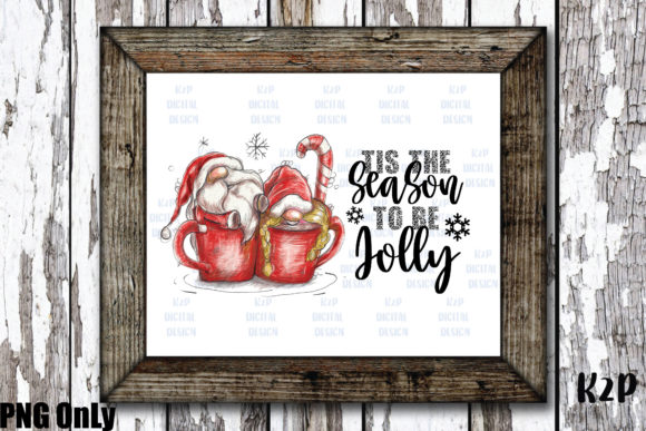 Print on Demand: Sublimation Christmas Gnome Jolly PNG Graphic Crafts By KtwoP