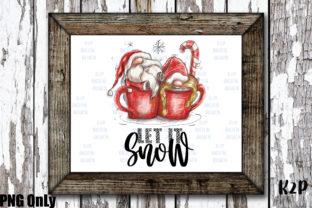 Print on Demand: Sublimation Gnome Let's It Snow X'mas Graphic Illustrations By KtwoP