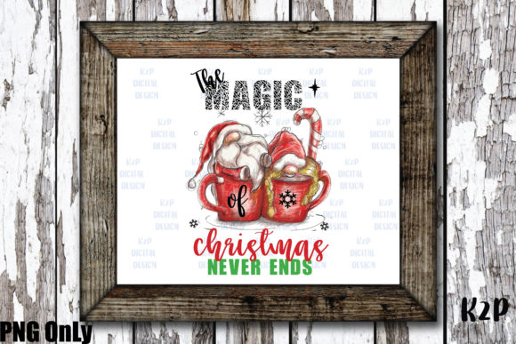Print on Demand: Sublimation Gnome Magic Christmas PNG Graphic Illustrations By KtwoP