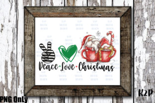 Print on Demand: Sublimation Gnome Peace Love Christmas Graphic Crafts By KtwoP