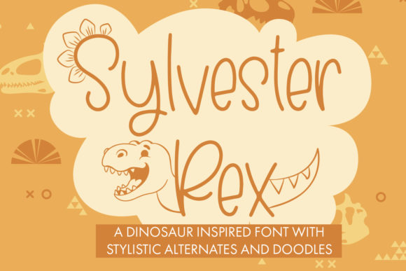 Print on Demand: Sylvester Rex Decorative Font By freelingdesignhouse