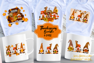 Print on Demand: Thanksgiving Sublimation Bundle Graphic Illustrations By Suda Digital Art