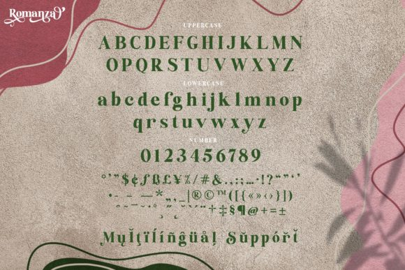 The Romanza Font Downloadable Digital File