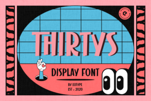 Print on Demand: Thirtys Display Font By eotype