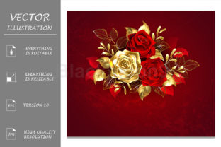 Three Jewelry Roses Graphic Illustrations By Blackmoon9